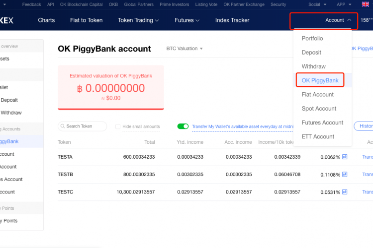 OKEx Allows Users To Obtain Interest On Their Spare Assets With The Help of A New Service OKPiggyBank