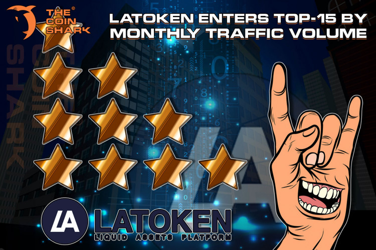 LATOKEN Enters Top-15 by Monthly Traffic Volume