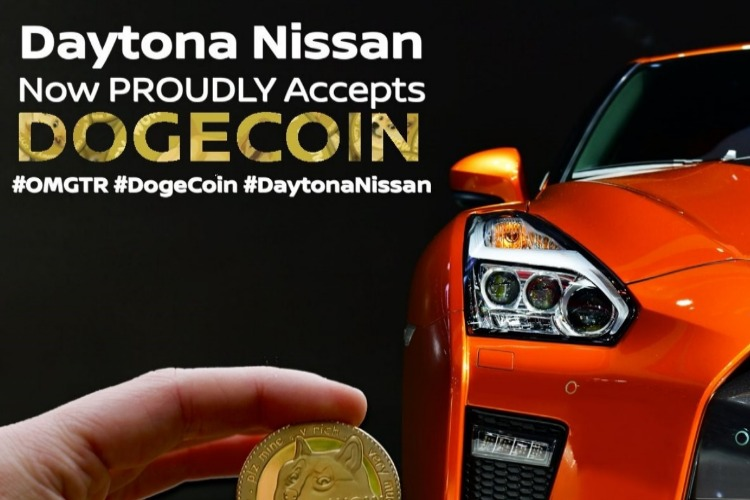 Florida Nissan Dealer, Daytona, Accepts DOGECOIN