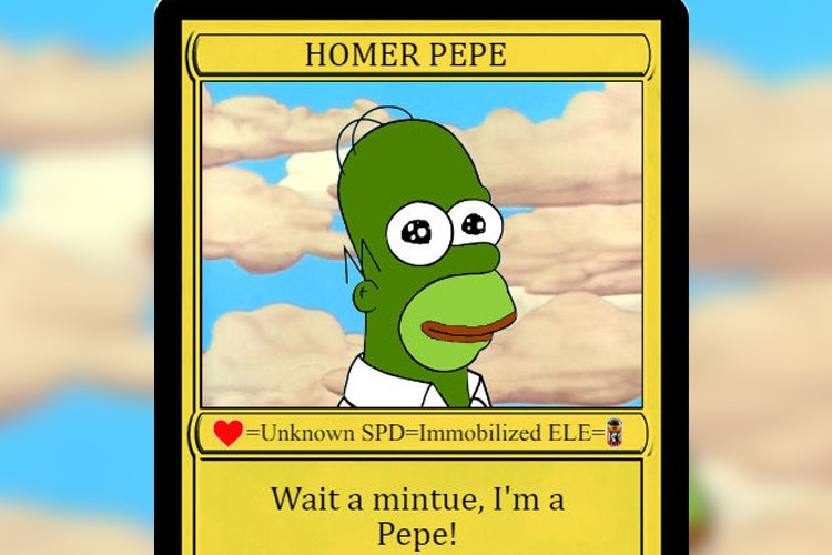 Homer Pepe's NFT card was purchased for $ 320,000